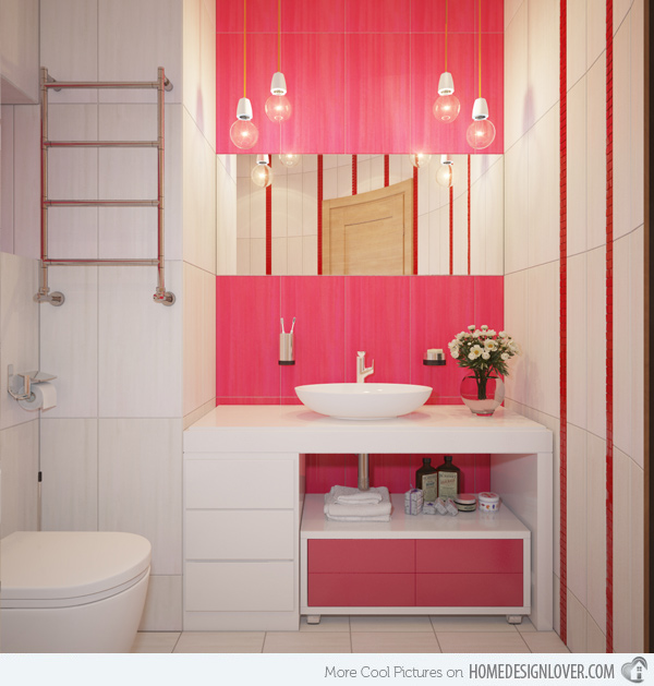Casas de banho cor de rosa uma moda de decora o estar for Pretty small bathroom ideas