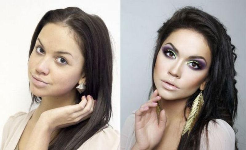 antes e depois maquiagem
