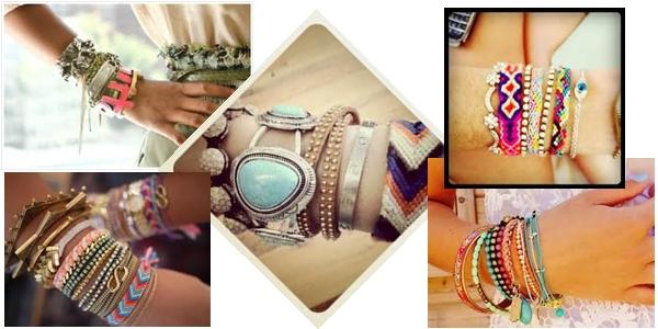modas que passaram de moda: pulseiras