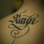 tatuagem letra gotica