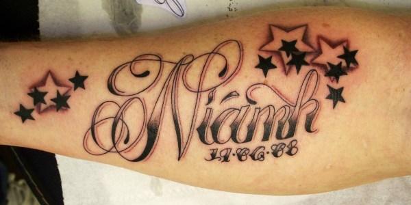 tatuagem letra