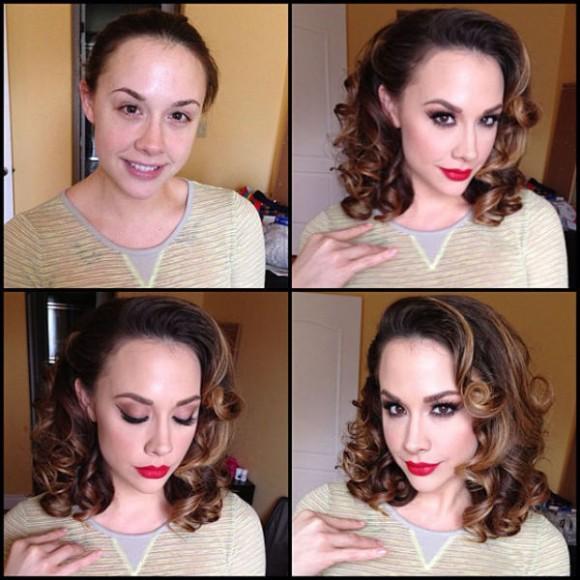 mulheres maquiadas