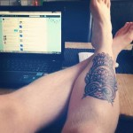 Tatuagens de Corujas a preto