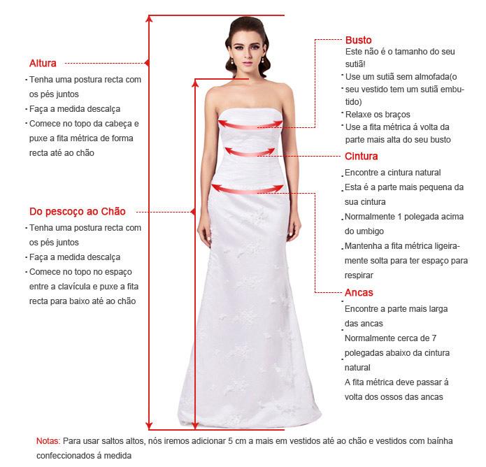 medir vestido de casamento
