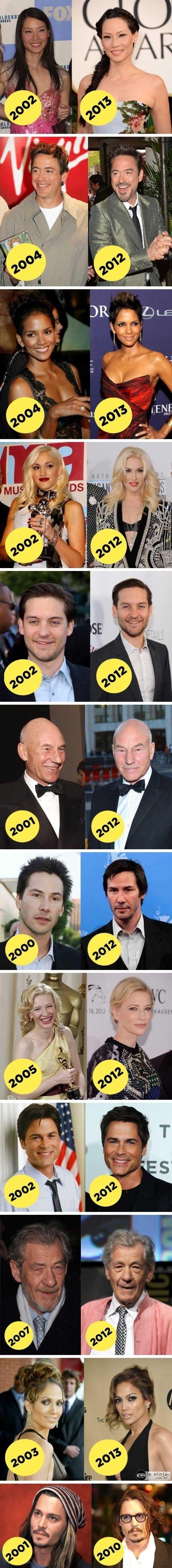 famosos que não envelhecem