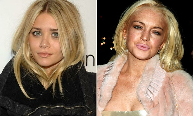 Ashley Olsen e Lindsay Lohan 27 anos