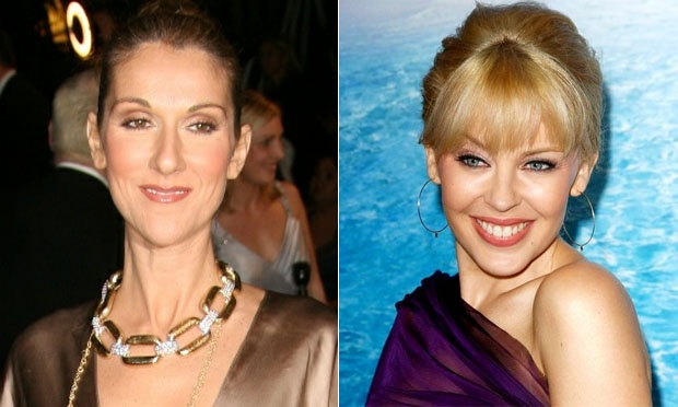Celine Dion e Kylie Minogue 45 anos