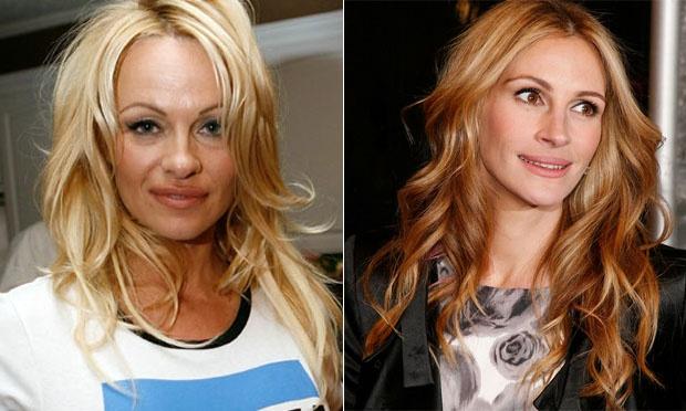 Pamela Anderson e Julia Roberts 46 anos